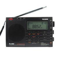 Wholesale tecsun air radio for sale - Group buy TECSUN PL Radio PLL SSB VHF AIR Band Radio Receiver FM MW SW LW Multiband Dual Conversion TECSUN PL660