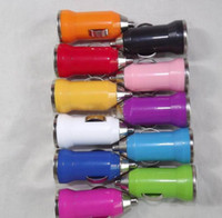 Wholesale mp3 mp4 mp5 android online - UniversalColorful Mini Portable Bullet Car Charger Adapters for mobile phone Android Phones MP3 MP4 MP5 GPS hot new