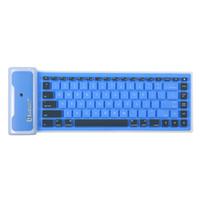 складная мини-клавиатура оптовых-85 Ключи Ultra Thin BT Mini Keyboard Складная и портативный пыле водонепроницаемый для рабочего стола ноутбука планшета и мобильного телефона