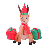 12m inflatable christmas reindeer carrying gifts blow up chirstmas party supplies