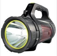 xenon-taschenlampen großhandel-Hochleistungs-starke Licht Taschenlampe wiederaufladbare super helle Long-Range-Hause im Freien wasserdichte Xenon LED tragbaren Scheinwerfer
