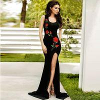 fiesta için elbiseler toptan satış-Tank Kolsuz Spandex Yenilik Sonbahar İmparatorluğu En Moda Yeni Varış Vestidos De Fiesta Artı Boyutu Robe Charm Kadınlar Elbise