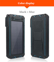 Wholesale waterproof portable charger online – Senior waterproof solar power bank mah battery charging externa portable charger with multifunction powerbank for Digital products