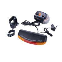 Wholesale Led Bike Turn Signals - Wholesale- 2017 New Free Shipping 7 LED Bicycle Bike Turn Signal Directional Brake Light Lamp 8 sound Horn O26