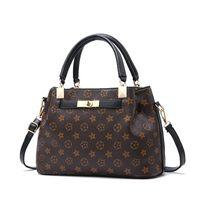 kadın moda markaları tasarımcısı el çantası toptan satış-Lüks Çanta Kadın Çanta Tasarımcısı Casual Çanta Moda Kadın Bez Omuz Çantaları Yüksek Kaliteli Deri PU Ünlü Marka Ekose El Çantası