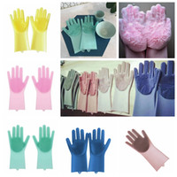 Wholesale men beds for sale - Magic Silicone Dish Washing Gloves Eco Friendly Scrubber Cleaning For Multipurpose Kitchen Bed Bathroom Hair Care MMA834 pair