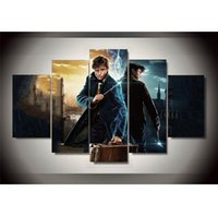 Wholesale framed wall art paintings - Fantastic Beasts Pieces Canvas Prints Wall Art Oil Painting Home Decor Unframed Framed