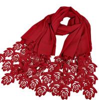 Wholesale Lace Scarf Wholesale - Bubble chiffon solid color woman headscarf hotsale rose flower pearl chiffon hijab free shipping via DHL