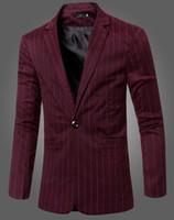 avlu malları toptan satış-Adam chun dong han baskı iş yeni yüksek kaliteli mal eğlence moda büyük metre kişilik çizgili blazer 243 / M-3XL