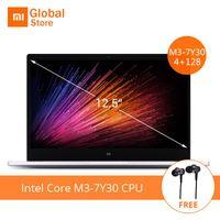 Wholesale Air Intel - Earphone Gift 12.5 inch Xiaomi Mi Notebook Air Intel Core M3-7Y30 CPU 4GB RAM 128GB SSD FHD Display Laptop PC Windows 10