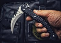 Wholesale fixed karambit knives online - Sickle of the devil Gardening tools Tactical Hand Tools Survival Pocket Knives Outdoor Hunting Claw Karambit Knife With Sheath