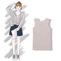 ingrosso collant coreani-2018 nuove donne di moda abbigliamento per adulti primavera e l'estate versione coreana del colore solido elastico stretto maglia maglia femminile summe