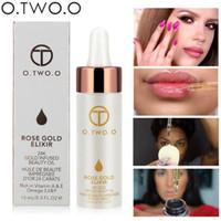essentielle öle großhandel-O.TWO.O Brand Primer Face Lips Make-up Feuchtigkeitscreme Leicht einziehbar 24K Rose Essential Oil Make-up-Grundierung für das Gesicht