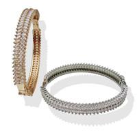 brazaletes de pulsera de oro al por mayor-Brazaletes de oro y plata para mujeres, hombres, joyería de moda, pulsera de amor de lujo