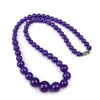 lila jaspis schmuck großhandel-Die reine Purpur-Schmucksache reine Handarbeit Die Größe ist klarer Purpur-Jaspis-Halskette.