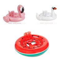 weißer schwanring großhandel-Baby Swim Ring White Swan Aufblasbare Kinder Schwimmen Rennen Critters Schwimmring Baby Schwimmen Runden Rosa Aufblasbare Flamingo