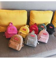 marque sac à dos coréenne achat en gros de-Sac à dos de sac à dos de jardin d'enfants de la marque 2018 marée sac à dos étudiant version coréenne du sac à lettre mignon