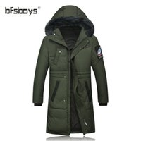 Wholesale Casaco Inverno Masculino - BFSBOYS 2017 New Casual 90% White Duck Down Jacket Winter Warm Coat Inverno Masculino Windproof Parka casaco masculino
