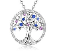Wholesale jewelry diamonds perfume - Wholesale personality fashion round life tree diamond necklace can open perfume bottle funeral cremation lovers engraved pendant jewelry