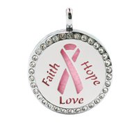Wholesale hope days - Faith love hope just breathe tree Perfume Essential oil Diffuser Locket 25mm Hollow Locket with 1 pad randomly as gift (no chain)