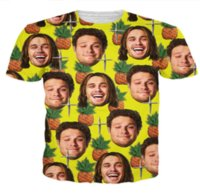 ingrosso magliette espresse-All'ingrosso-Newest Fashion Mens / Womens Summer Style Ananas Express Divertente 3D Stampa Casual T-Shirt DXR0088
