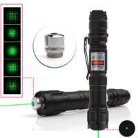 caneta laser militar venda por atacado-2019 Melhor 1 PC 532nm Tactical Laser Grau Verde Ponteiro Forte Lasers Lazer Lanterna Militar Poderoso Clipe Twinkling Estrela Caneta Laser
