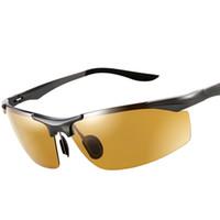 Wholesale magnesium vision for sale - Group buy 2018 Aluminum Magnesium Polarized Sunglasses Men Sports Driving Night Vision Goggles Sunglass Fishing UV400 Rimless Sun Glasses