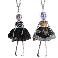 Discount cute baby girl dolls - New Women Doll Cute Black Long Necklaces & Pendant Hot Dress Baby Girls Maxi Necklace Brand Fashion Statement Jewelry