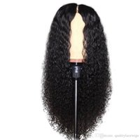 Wholesale curly deep hairstyles - Cheap Curly Lace Front Wig 150% Density Glueless Lace Front Human Hair Wigs With Baby Hair 13x6 Deep Part Brazilian Remy Hair Wig