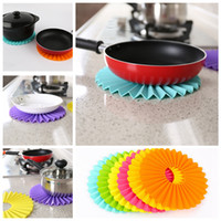 Wholesale Folding Round Tables Wholesale For Sale   Silicone Table Mat  Placemat Pad Folding Coaster Dish