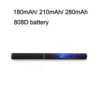 meilleure cigarette e vapeur achat en gros de-Meilleure vente batterie rechargeable 808D stylet e-cigarette vapeur cigarette électronique 808d batterie noir mâle batterie