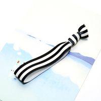 replier les élastiques achat en gros de-2014 plier sur élastiques cheveux cravates bracelet bracelets bébé fille queue de cheval titulaire cheveux accessoires cheveux bébé fille bandeau arc