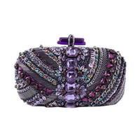 фиолетовые сумочки свадьбы оптовых-NEW Temperament woman purple  Evening Bags handbags ladies Dinner clutch bags Hand-beaded diamond Wedding Party WY99