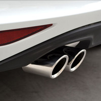 Wholesale vw exhaust - wholesale Stainless steel Exhaust Muffler Tip Pipe auto accessories For VW Volkswagen Jetta MK6 1.4T Golf 6 Golf 7 MK7 1.4T car styling