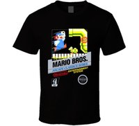 videokunst großhandel-Mario Bros Arcade NES Black Box Kunst Videospiel T-Shirt