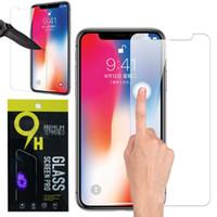 iphone plus ekran koruması toptan satış-IPhone X 8 7 6 6 S Temperli Cam Ekran Koruyucu için iPhone 6 S Artı Samsung S6 S7 Not 5 ekran temizle filmi 9 H Sertlik ile koruma