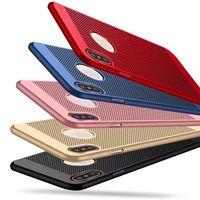 hohler rückseitiger iphone fall groihandel-Wärmeableitung mesh net aushöhlen punkt atmungsaktiv schlank zurück telefon case abdeckung für iphone x 8 8 plus 7 7 plus 6 plus 6 s