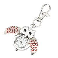 сова смотреть женщина оптовых-Великолепная Сова очарование унисекс мода Римский номер кварцевые карманные брелок часы женщины мужчина ожерелье кулон с цепи подарки #D