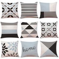 Wholesale body bedding resale online - 9 Styles Christmas Geometric Pillow Case For Sofa Car Cushion letter print Pillow Cover Pillowslip Bedding cm C5501