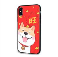 iphone fall hund apfel großhandel-2018 chinesische Hund Jahr Handy Fall TPU günstige Bedeutung Handy Fällen für iPhone 6/7/8 / Iphone X