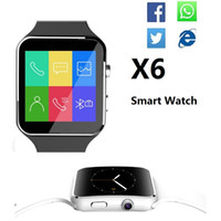 Wholesale X6 Smartwatch Curved Screen Smart watch bracelet Phone with SIM TF Card Slot with Camera for Samsung android VS U8 DZ09 GT08
