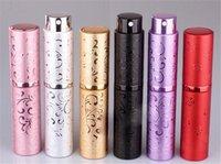 mini contenedor de aluminio al por mayor-10 ML Mini Perfume Vacío Botellas de Spray de Aluminio Atomizador de Perfume de Viaje Envases Cosméticos Portátiles Para Caja de Bomba de Aerosol de Aerosol