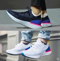 Wholesale instant black - 2018 Top Epic React AQ0067 Instant Go Fly Breath Comfortable Sport Boost Size 5-11 Mens outdoor Shoes For Sale Women Athletic Sneakers