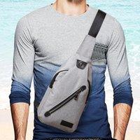 bolsas de ombro desequilibradas venda por atacado-Xiniu homens saco crossbody bag peito casual japão Lona desequilíbrio homem ombro bolsa feminina Dropshipping # e7