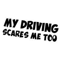 ingrosso parola auto di jdm-Funny Word English Alphabet Rear Safety Warning Adesivi per auto My Driving Scares Me Too Jdm