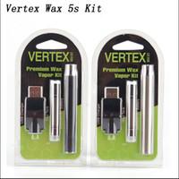 Wholesale E Cigarette Packaging - Preheating Vertex Wax Vape Pen Starter Kits 400mAh E-cigarette Preheat Battery 5S Wax Tank Atomizer Blister Package Vaporizer CE3 G2 Kit