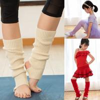 bale ısıtıcıları toptan satış-10 renkler Bale Bacak Isıtıcıları kadın çocuk örgü Çorap Tığ Yoga çorap Isıtıcı bebek Tayt çorap C5468