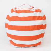 Wholesale toys mats online - Top Sell cm Kids Storage Bean Bags Plush Toys Beanbag Chair Bedroom Stuffed Animal Room Mats Portable Clothes Storage Bag Colors