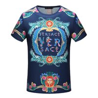 Wholesale Women Sequins Tops - g2018fashion italy luxury Brand tshirt designer embroidery medusa geometry flowers letter Men casual round neck women t-shirt shirts tee top