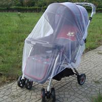 bebek araba strollers toptan satış-Bebek Arabası Puset araba Sivrisinek Böcek Kalkan Net Güvenli Bebeklerde Koruma Mesh Arabası Aksesuarları Cibinlik